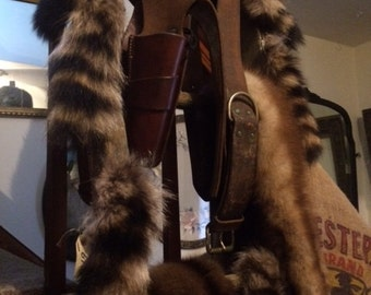 Raccoon Tails, Furs, Trapper, Cabin, Wilderness, Pelts, listing is for one tail, shipping can be combined