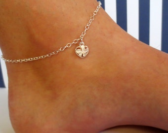 Sterling Silver Plumeria Anklet/Hawaiian Anklet/Hawaiian Ankle Bracelet/Hawaiian Jewelry/Delicate Anklet/9 inch/10 inch/11 inch/12 inch