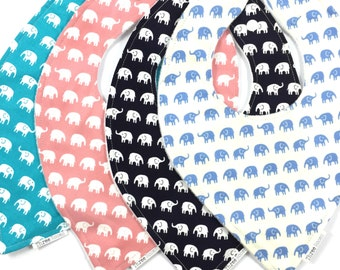 Elephant Faux Bandana Bib Baby toddler waterproof dribble feeding bib