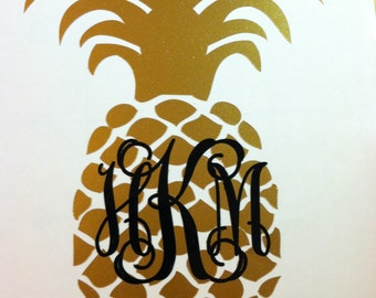 "Shop ""pineapple monogram decal"" in Home Décor"