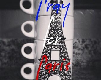 Paris Eiffel Tower Mug Set