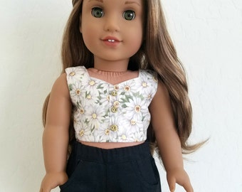 SALE !!! American Girl Doll Clothes - Bustier and/or Black Short Shorts for American Girl Doll