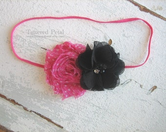 Minnie Mouse headband, Minnie Mouse bow, pink minnie mouse headband, pink and black, Disney headband, character headband, Minnie Mouse clip