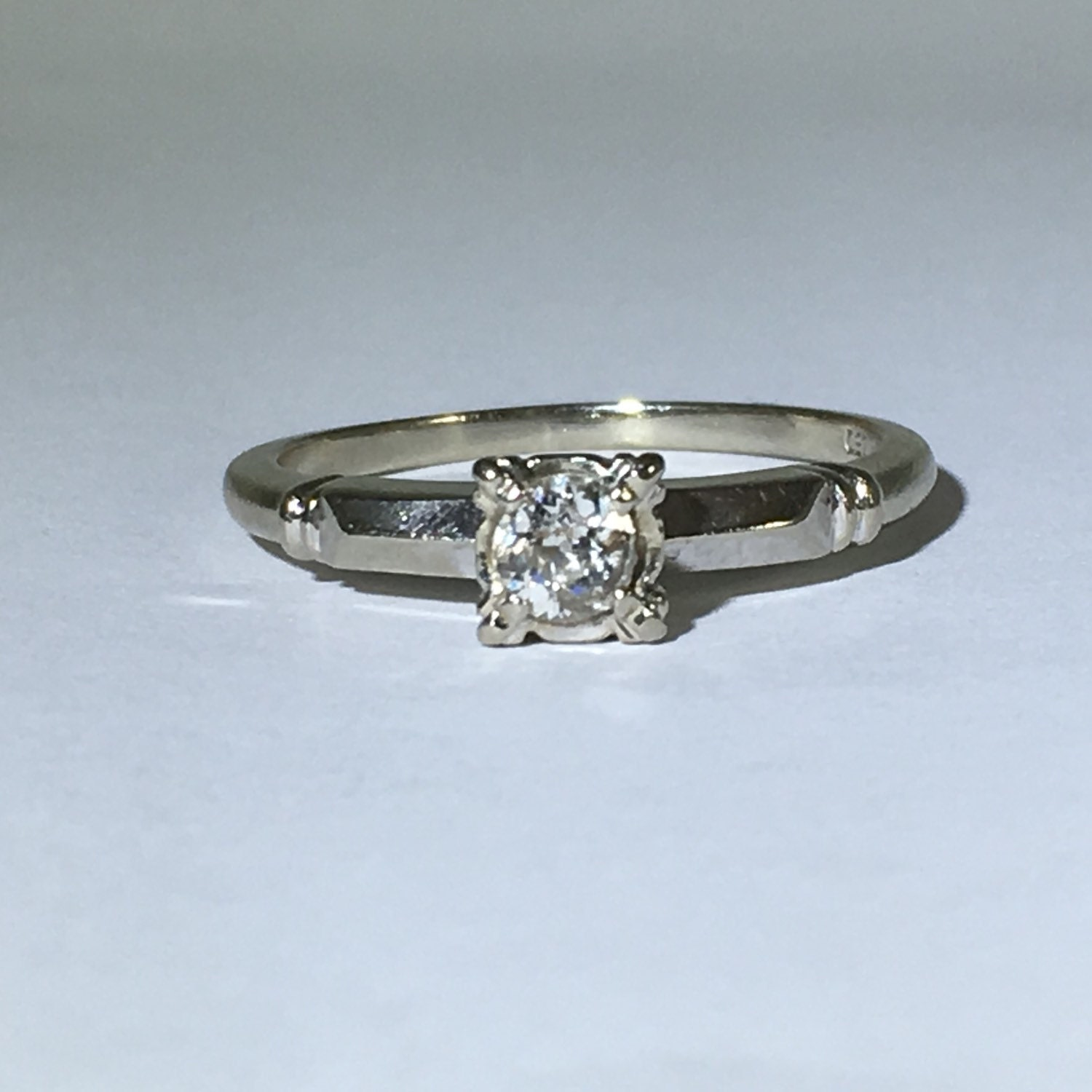 Vintage Diamond Ring 0 25 Carat Diamond by ScotchStreetVintage