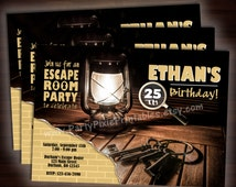 Escape Room Party Invitations - 5x7/4x6 - Printable and Personalized with your party details - Digital File