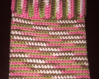 Crochet ipad cover, tablet cover, ipad cozy, tablet cozy, pink camo