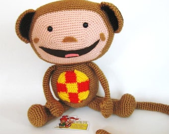 Amigurumi baby tv Oliver doll pattern