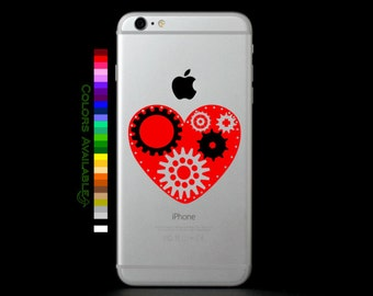 Steampunk Heart Phone Decal