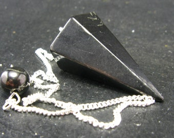 Black Shungite Pendulum From Russia