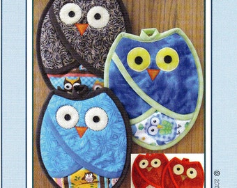 Who Owl Pot Holders     By: Susie C Shore Designs    #VL-1332