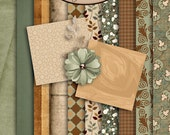 Digital Scrapbook: Vintage, Melancholy Paper Pack