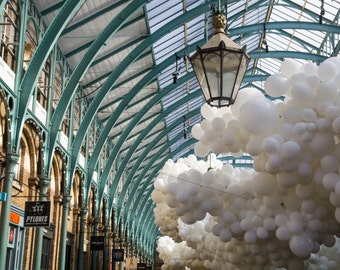 Balloons in Covent Garden - Charles Pétillion Installation - London Photography - Covent Garden Print