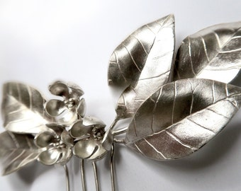 Silver handmade headpiece made in Spain - silver headdress handmade in Spain