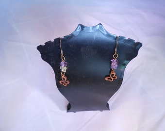 Butterfly Wood Earrings with Swarovski Crystals