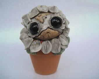Cute Creature Flower Sculpture Potted Plant