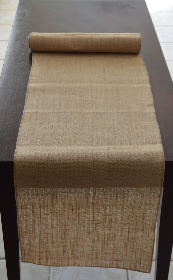 60 X 12 Inch Burlap Table Runners
