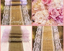 Burlap Lace Table Runner/blush Pink Lace/3ft-10ft longx 13in Wide/Wedding Decor/Tabletop Decor/Centerpiece/Weddings/FREE RUNNER