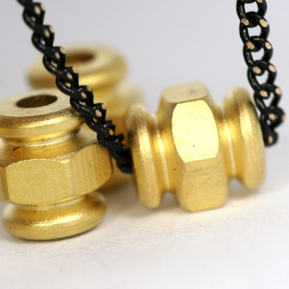 brass round tube 8 pcs  7 x 6 mm ( 2 mm hole) gold plated finding charm bab3 778B2