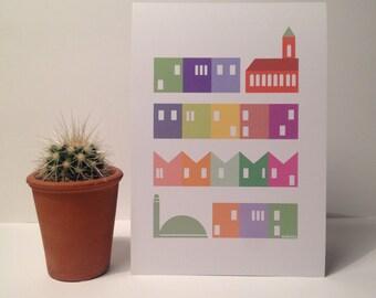 A5 Totterdown, Bristol Print - bristol art - illustration - totterdown