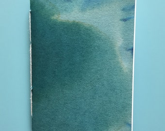Blue Hand-Dyed Notebook//Pocket Sized