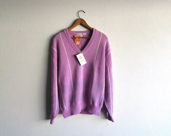 S A L E 80's Izod Golf Sweater // Deadstock sweater, vintage jacket, new with tags, golfing attire, cozy sweater