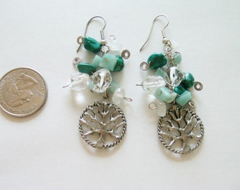 Tree Of Life Earrings / Turquoise Earrings / Tree Of Life Jewelry / Turquoise Jewelry / Drop Earrings / Dangle Earrings