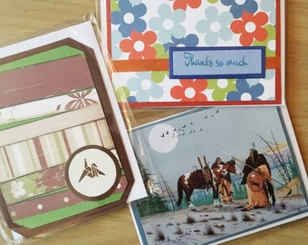 3 Card Bundle - Thank You Cards, Blank Greeting Cards