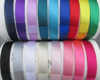 ADD ON....An Interchangeable Satin Covered Hard Plastic Headband 17 Different Colors