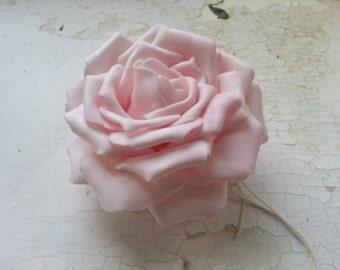 Pink floral rose hair comb