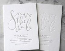 Letterpress Save the Date Invites (50 Pieces)
