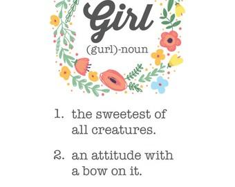8x10 PRINT: Girl Mom