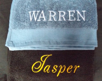 Personalised EMBROIDERED TOWELS / Stunning choice of colors / various sizes