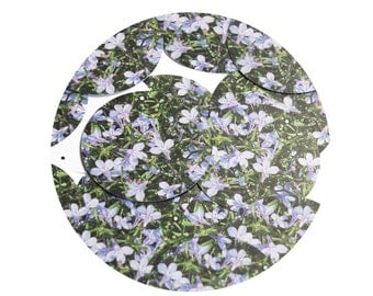 Sequin Lavender Violets Floral Flower  Round 1.5 inch Couture Loose Paillettes Discs