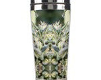 Fractal Art Cup. Metal Travel Mug,  NYC Diesel Marijuana Coffee Mug,  Boho Coffee Mug, Anniversary Gifts for Men, Anniversary Gifts