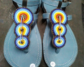 Hand Made beaded Maasai sandal