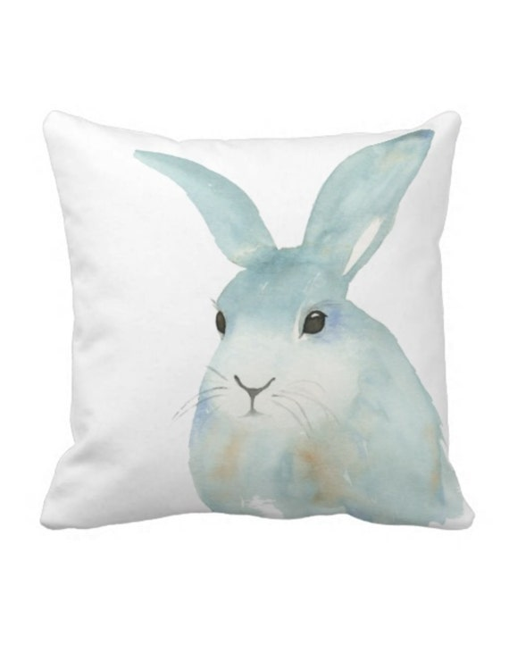 Https Www Etsy Com Listing 466369933 Watercolor Bunny Pillow Cover Rabbit