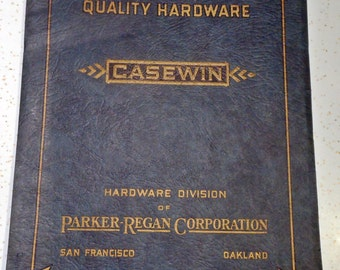 1929 Hardware Catalog CASEWIN and DURWIN for Doors and Windows