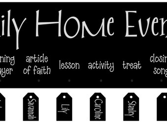 Custom FHE (Family Home Evening) Board for Christa Ellis