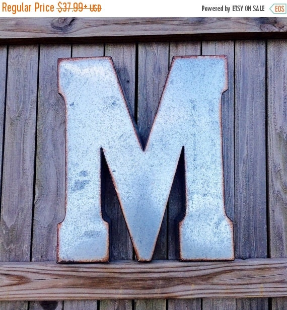 Large Metal Letters For Wall Decor : Large metal letter big wall letters by penelopemaydecor