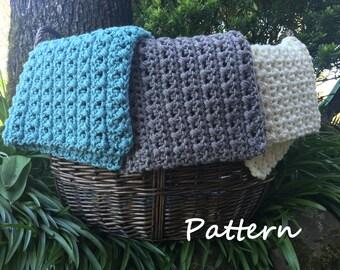 PDF crochet mini blanket pattern, cross stitch blanket, basket filler, photo prop, baby blanket, baby gift