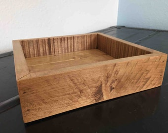 Hardwood Valet Tray - Catchall - Dresser Caddy - Desk Caddy - Made from Reclaimed Hardwood