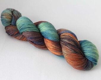 Merry-Go-Round, Hand dyed Merino Sock 75/25 sw merino/nylon