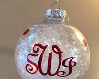 Large Monogram Christmas Ball with Date