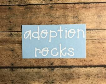 adoption rocks decal / support/ adoption/ international adoption/ domestic adoption / fundraiser