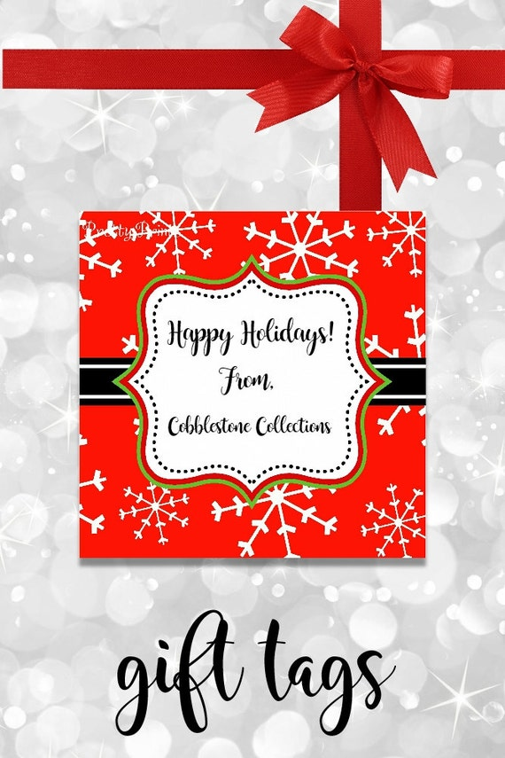 Snowflake Gift Tags - Christmas Gift Tags - Printable - Personalized Christmas Tags - Snowflakes - Christmas Tags