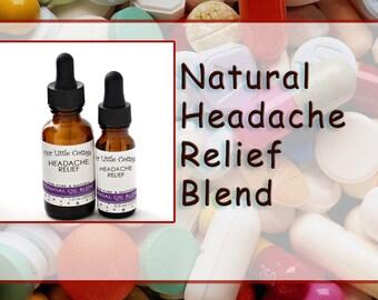 Headache Essential Oil Blend, Headache Eraser, Headache Essential Oil, Pain Relief Oil, Carrier oil, Headache Relief Essential Oil Blend