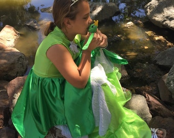 Green princess and the frog, floor length