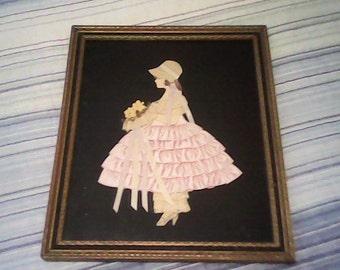 1940s RIBBON ART GIRL  Bridesmaid Rare