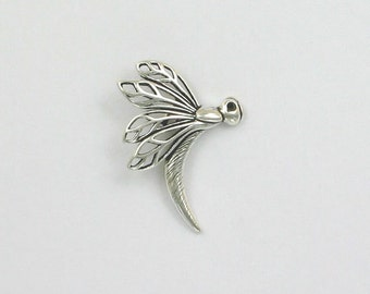 Sterling Silver Dragonfly Pendant or Charm - IN23