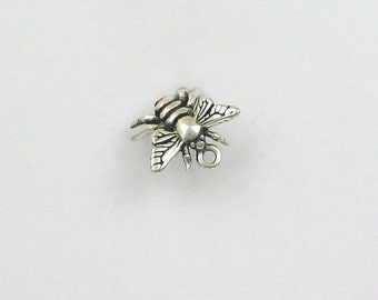 925 Sterling Silver Honey Bee Charm - IN27